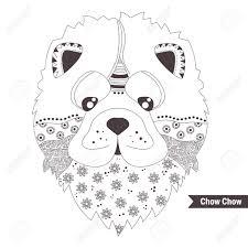Chow Chow Hond Kleurboek Voor Volwassenen Antistress Kleurplaten