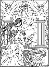 Small Picture adult fantasy woman skulls snake Coloring pages Printable