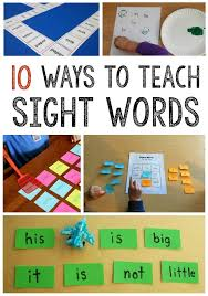 Activities Word 10 Simple Sight Word Activities Best Of The Measured Mom