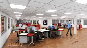office space architecture. Commercial Office Space 3D Interior Architecture