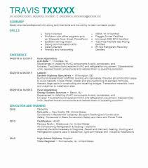 Hvac Apprentice Sample Resume
