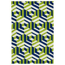 kaleen rugs escape navy and apple green rectangular 2 ft x 3 ft rug