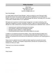 Project Manager Cover Letter Technical Computers Technology