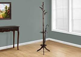 Wooden Coat Rack With Umbrella Holder Gorgeous Amazon Monarch Specialties Solid Wood Coat Rack With An