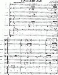rent seasons of love sheet music musicainfo net details seasons for love 9596020