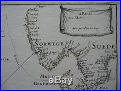 Antique Map France Blog Archive 1677 Du Val Sea Chart