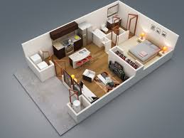 One Bedroom Apartment Design Mesmerizing One Bedroom Design