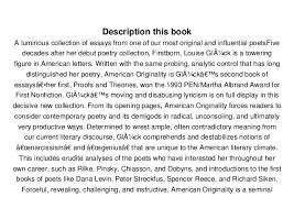 pdf american originality essays on poetry full books