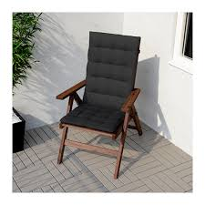 """""""PPLAR– Reclining chair outdoor foldable brown stained IKEA"""
