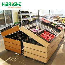 Wooden Fruit Display Stands Mesmerizing China Wooden Supermarket Vegetable Fruit Display Stand China
