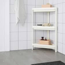 vesken corner shelf unit white