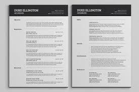 Two Pages Classic Resume Cv Template Resumes Arq