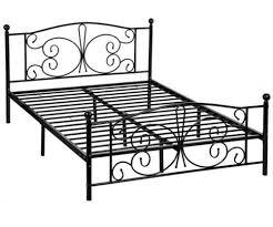 metal platform bed box spring replacement includes metal slats queen 0