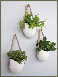 decoration, Bewitching Interior Room Design Ideas With Creative Flower Pots  In Hanging Styles With Ropes