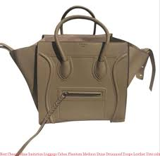 best céline imitation luggage cabas phantom medium dune drummed taupe leather tote celine big bag replica