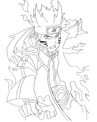 Naruto Coloring Pages Rikudou Sennin Mode Coloringstar