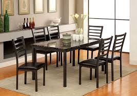 colman contemporary dining table w 6 side chairs furniture of america