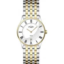 rotary gb08201 01 mens watch watches2u rotary gb08201 01 mens ultra slim white two tone watch