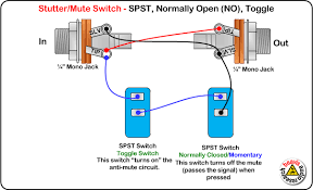 mute switch spst normally open toggle wiring diagram diy pedals mute switch spst normally open toggle wiring diagram