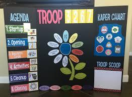 Daisy Scouts Meeting Board Kaper Chart Troop 201 Girl
