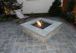 paver patio with gas fire pit. Delighful Pit Modular GasFired Fire Pit In Concrete Paver Patio Throughout With Gas E