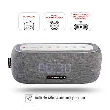 LUMIFORD 3-in-1 Digi Clock 10W Wireless Stereo Bluetooth Speaker with  built-in Alexa Voice Control, Multiple Device connect with FM Radio & Dual  Alarm Clock, 20 hours playtime (Dark Grey) Price: Buy LUMIFORD