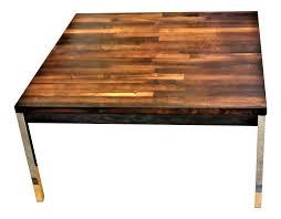 brazilian wood furniture. Luxury Solid Brazilian Rosewood Staved \u0026 Chrome Danish Modern Table | DECASO Wood Furniture Z