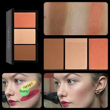 swatches face form contouring brush palette light sleek makeup blush by 3 ของแท ร ว ว