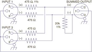 why not wye balanced summing box using xlr connectors