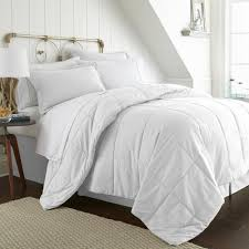 becky cameron bed in a bag performance white twin xl 8 piece bedding set
