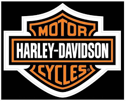 harley davidson classic orange bar shield logo decal large d3024