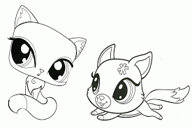 Small Picture Coloring Pages Littlest Pet Shop Animals Coloring Coloring Home