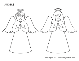 Free printable coloring pages for print and color, coloring page to print , free printable coloring book pages for kid, printable coloring worksheet. Angels Free Printable Templates Coloring Pages Firstpalette Com