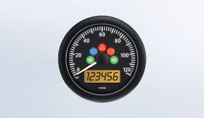 speedometer by type instruments displays and clusters vdo viewline onyx 120mph 3 3 8 85mm electronic speedometer 12 24v