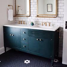 bathroom floor tile blue. Tiles, Blue Floor Tiles Large Bathroom With Table Mirror And Door: Amusing Tile