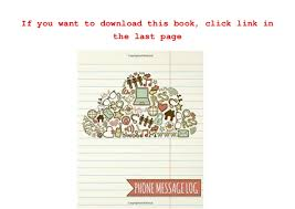 Phone Message Log Book Phone Message Log Telephone Message Tracker Voice Mail