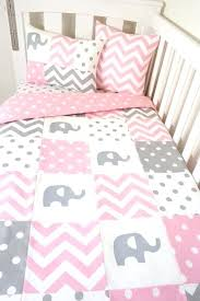 baby nursery baby girl elephant nursery bedding patchwork quilt set pink and grey elephants with