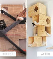 the evolution of a homemade cat tower the before and after of the diy cat bed project