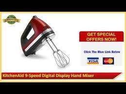 kitchenaid 9 speed digital hand mixer. kitchenaid 9 speed digital display hand mixer candy apple red review sale 2014 - youtube kitchenaid