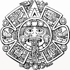 Mayan Calendar Face Outline Google Search Projects Aztec