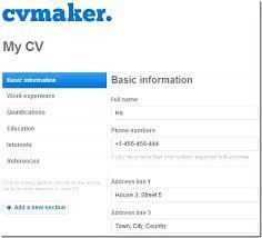 Make Free Resume Create A Free Resume Online Make A Free Resume