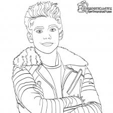 Carlos Descendants 2 Coloring Page Free Movie Coloring Pages