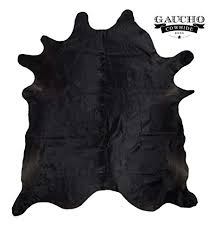 Solid Black Cowhide Rug - Natural & High Quality ... - Amazon.com