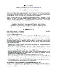System Admin Resumes System Administrator Resume Template Stagingusasport Info