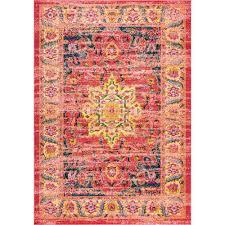 nuloom persian medallion rozella orange 8 ft x 10 ft area rug