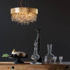 round gold crystal contemporary chandelier