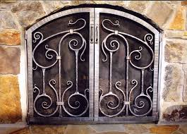 inspiration of iron fireplace screens with metal fireplace screens