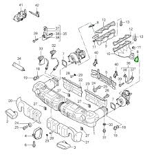 porsche 997 turbo exhaust manifold to turbo gasket 99711121570 zoom in 2