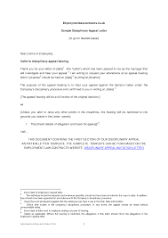 how to write an appeal letter against disciplinary action appeal how to write an appeal