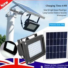 54 led solar motion sensor light wall outdoor garden security waterproof lamp